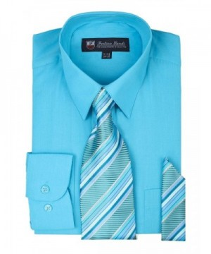 Dress Shirt Set Turquoise 15 15 5 Sleeve