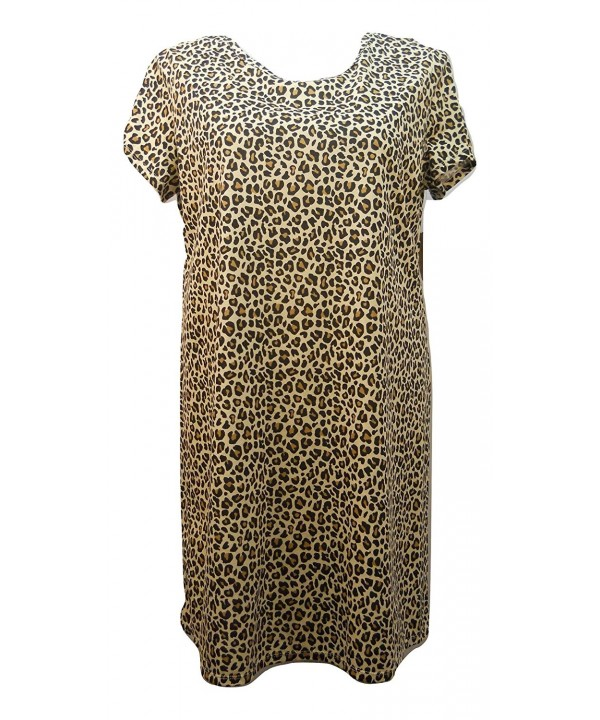 Leopard Print Nightgown Sleep Shirt