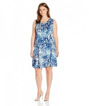 Notations Womens Plus Size Sleeveless Printed