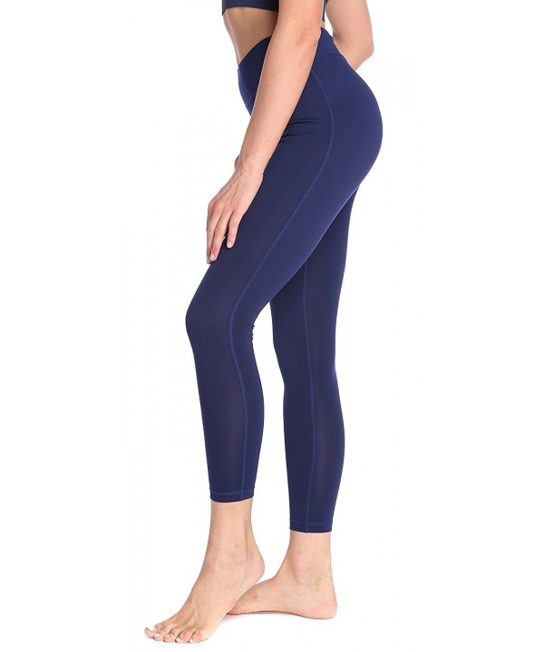 SILKWORLD Womens Pockets Workout Leggings