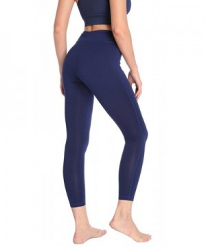 dc3ac34818d5f Women's Power Flex Yoga Pants with Pocket Workout Leggings - Navy ...