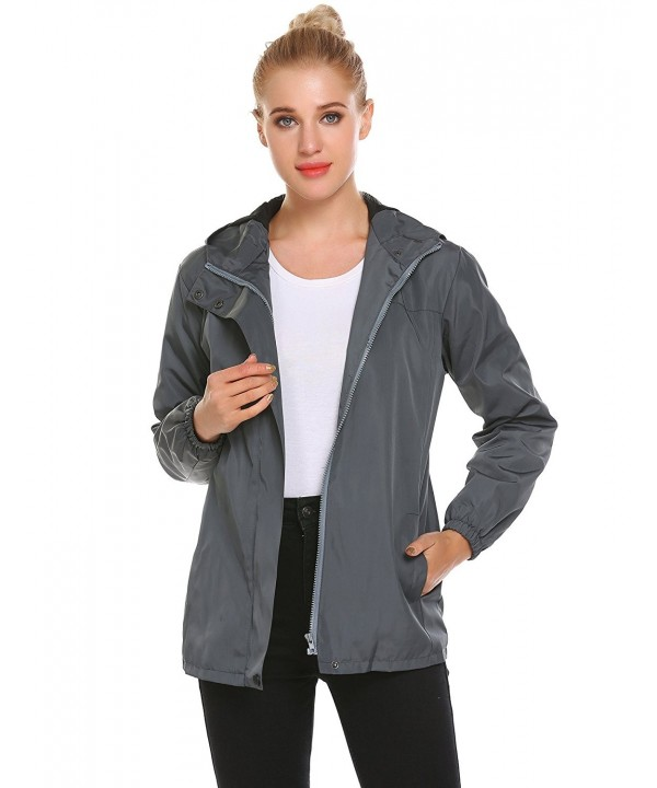 Easther Womens Raincoat Hooded Winter