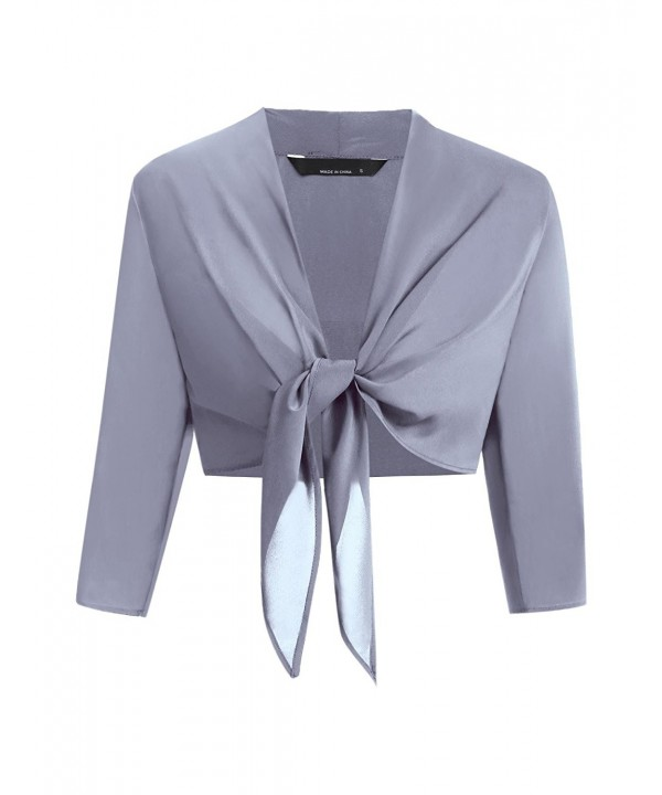 Mofavor Womens Classic Cropped Cardigan