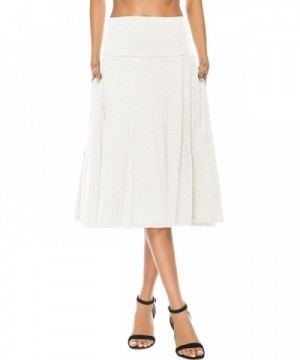 YiLiQi Womens Knitted Pleated White M