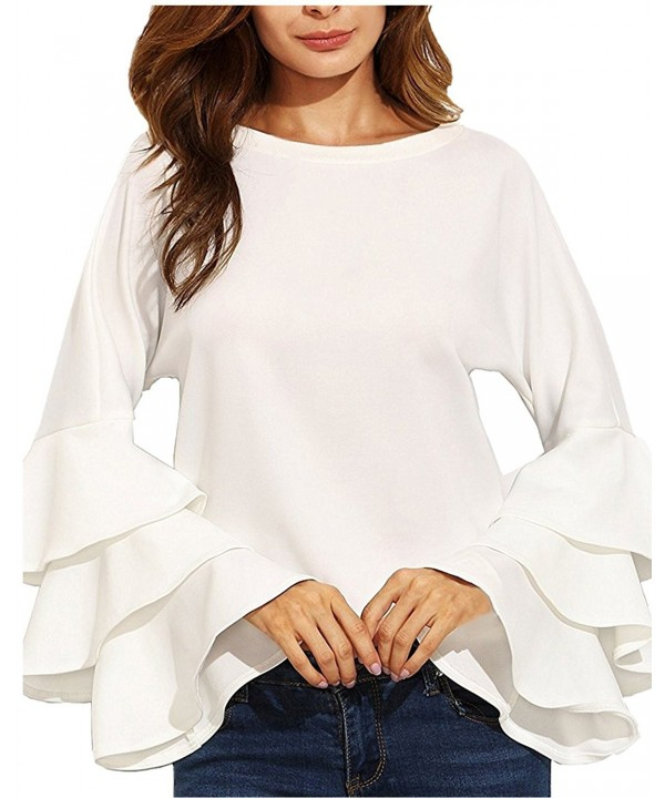 ZANZEA Womens Layered Ruffle Sleeve Vintage