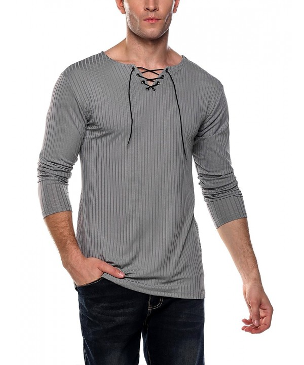 Coofandy Sleeve Casual T Shirt V Neck