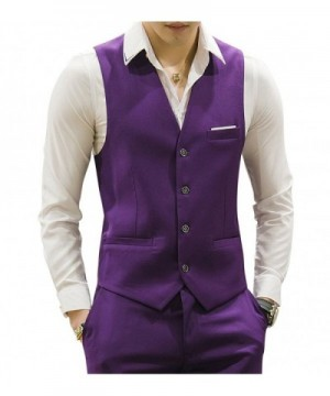 MOGU Waistcoat Causal Colors Purple