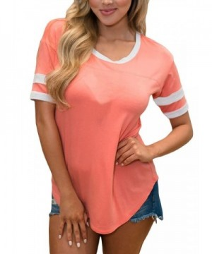 Sidefeel Casual Blouse Stripe T shirt