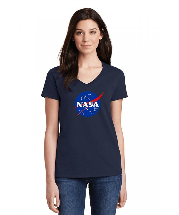 Meatball Ladies V Neck Shuttle Science