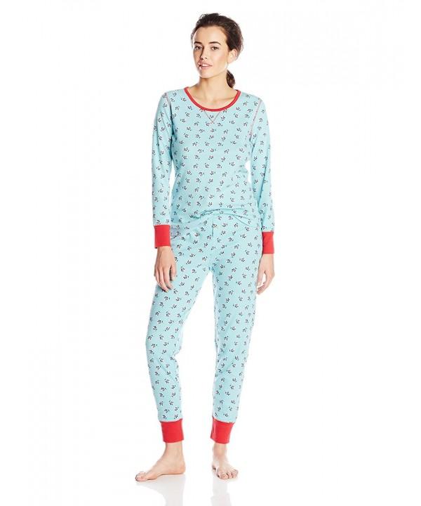 Jockey Womens Waffle Printed Pajama