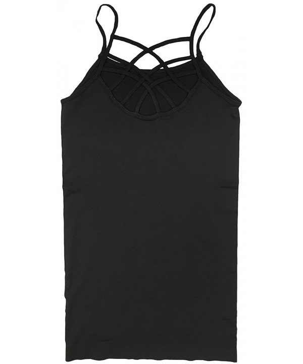 WOMENS JUNIOR WORKOUT FASHION TANK SPAGHETTI