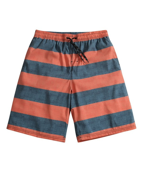 SULANG Lightweight Orange Stripes Shorts