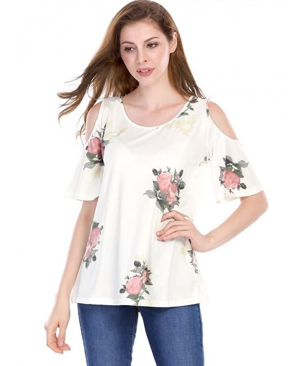 Allegra Womens Shoulder Sleeves Floral