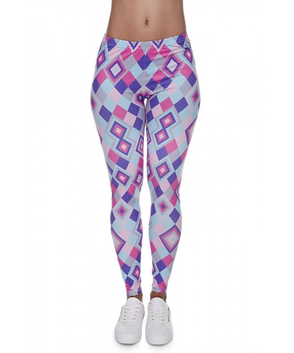Pop Fashion Leggings colorful Geometric