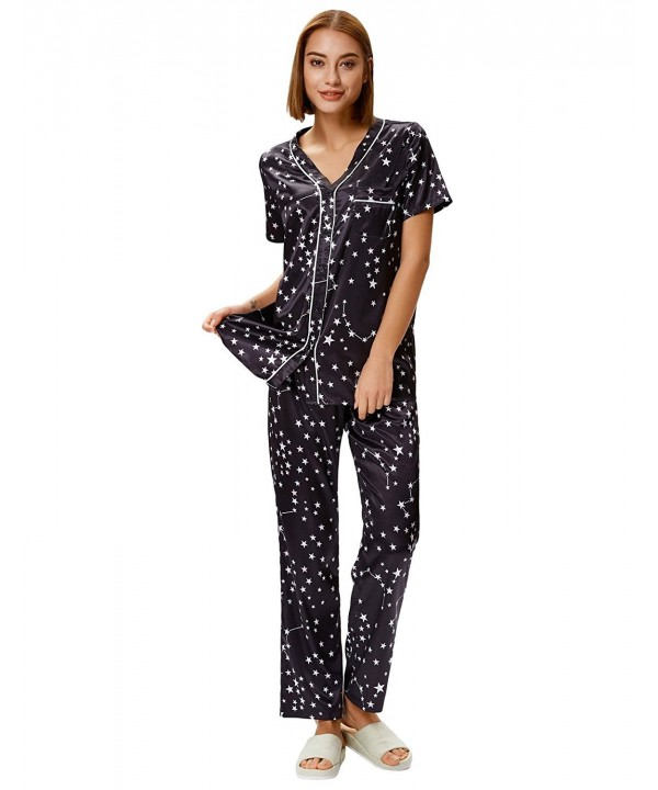 Womens Pajamas Short Shirt Bottons