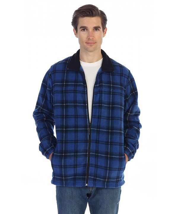 Gioberti Plaid Fleece Jacket X Large