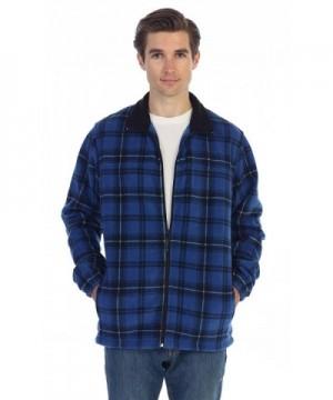 Gioberti Plaid Fleece Jacket X Large