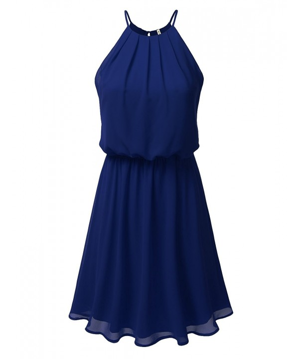 DRESSIS Womens Layered Chiffon Royalblue