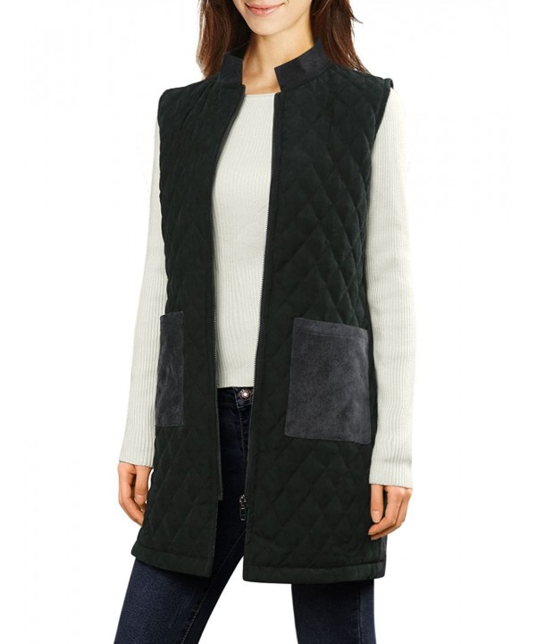 Allegra Womens Corduroy Quilted Charcoal