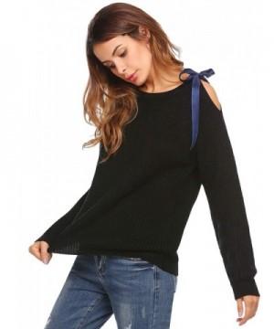 Zeagoo Womens Shoulder Pullover Sweater
