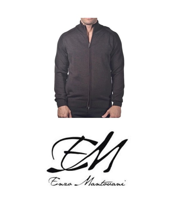 Enzo Mantovani Full Zip Sweater Pockets