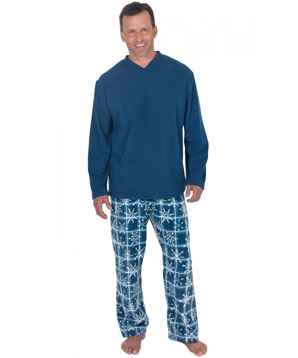 PajamaGram Snowflake Fleece Pajamas Long Sleeved