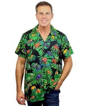 Funky Hawaiian Shirt Rainforest Frogs