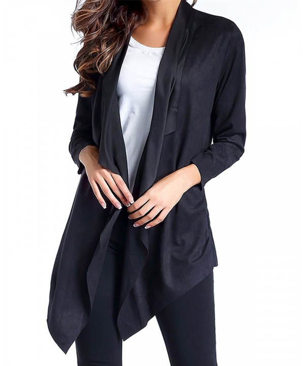 ZANZEA Womens Waterfall Cardigan Asymmetrical