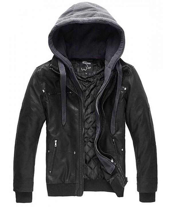 Wantdo Leather Jacket Removable Medium