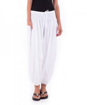 SHU SHI Womens Harem Pants Elastic