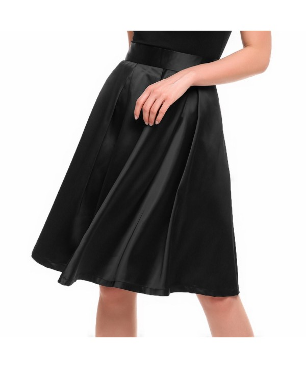 Zeagoo Classic Waisted Knee Length Pleated