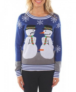 Womens Ugly Christmas Sweater Snowman