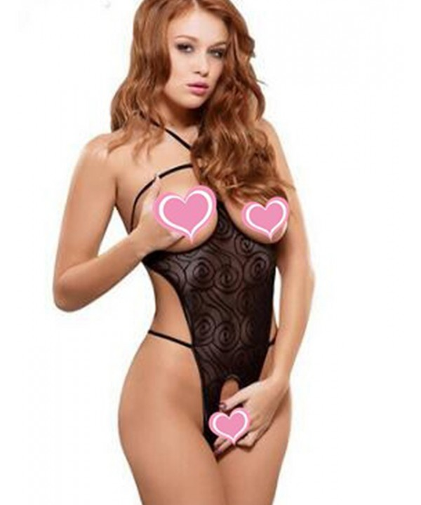 4653626067 Cup Less Lingerie Sets Sexy Lace Mesh Slutty Babydoll Bow Lingerie ...