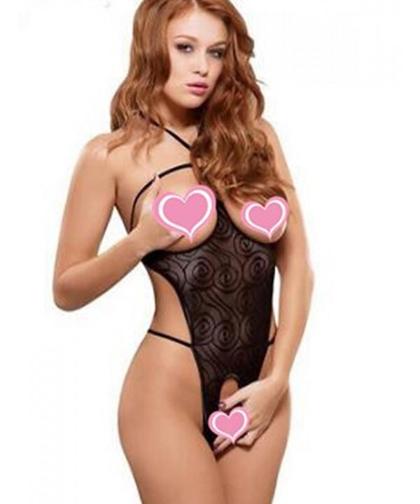 Lingerie Halter Babydoll Cupless Nightwear