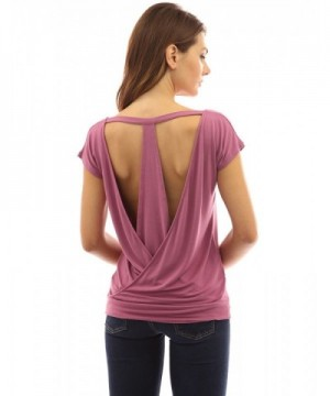 PattyBoutik Womens Backless Moderate Raspberry