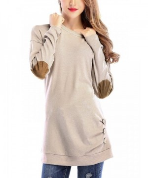 Jubileens Womens Casual Sleeve Crewneck