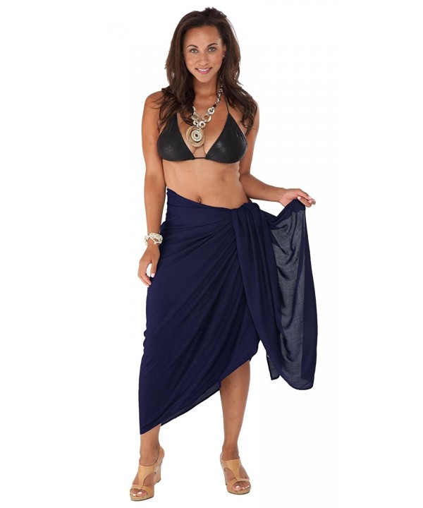 Sarongs Womens Fringeless Cover Up Sarong