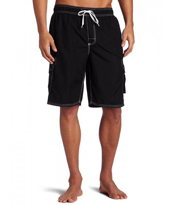 fd245363ff Men's Swim Trunks Quick Dry Water Beach Cargo Water Shorts With Mesh ...