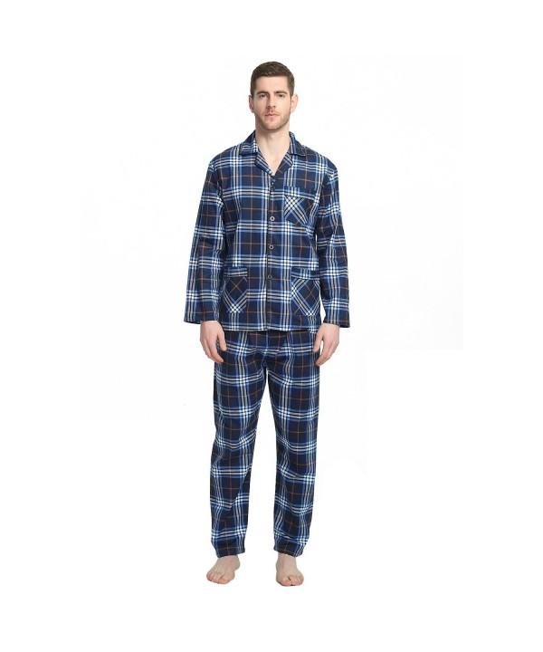 GLOBAL Sleepwear Cotton Flannel Pajamas