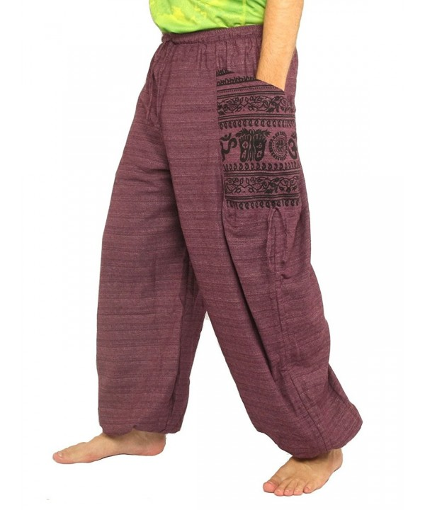 Hippie Cultural Pattern Cotton Magenta