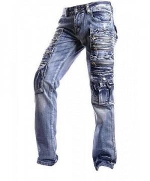 jeansian Casual Denim Straight Pants