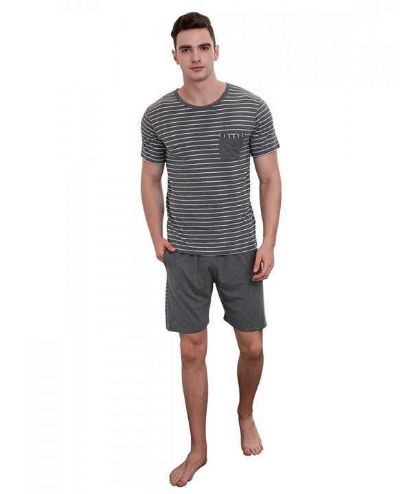 QianXiu Striped Short Sleeve Shorts sleepwear