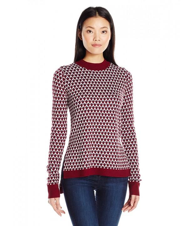 Olive Oak Jacquard Pullover Sweater