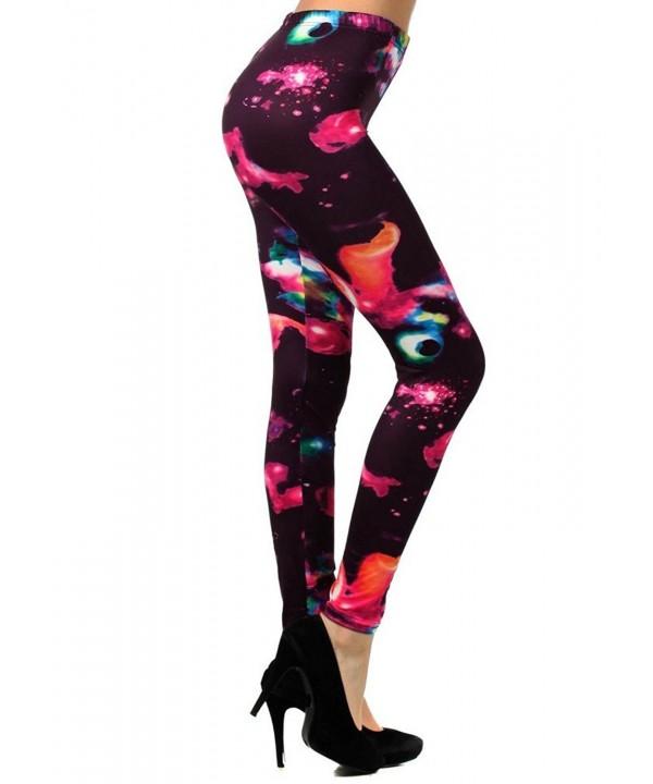 Yelete Womens Fashion Printed Leggings