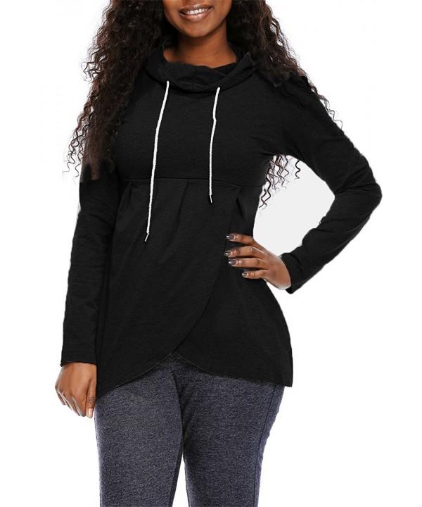 Womens Pullover Vintage Asymmetric Sweatshirt