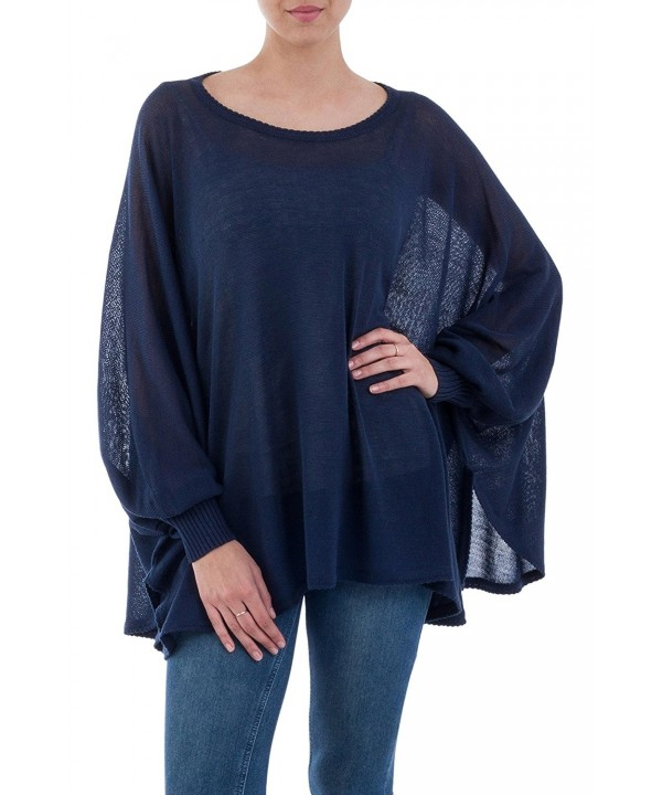 NOVICA Cotton Bohemian Sweater Breeze
