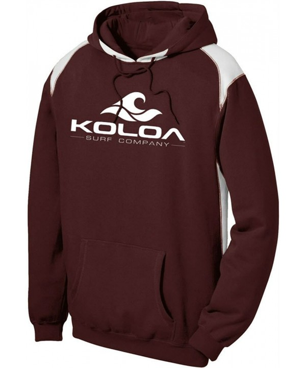 Koloa Contrast Color Athletic Hoodie Maroon