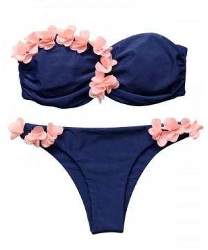MOOSLOVER Fashion Flowers Off Shoulder Swimsuit