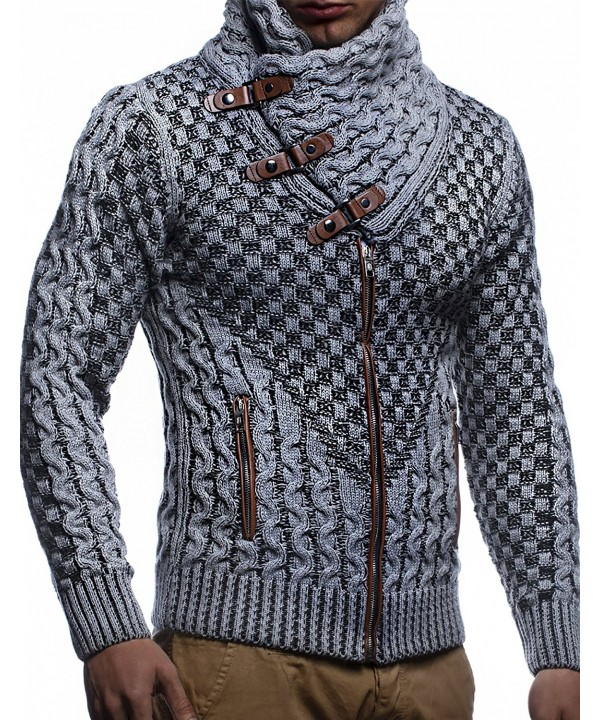 Leif Nelson LN5340 Cardigan Grey Black