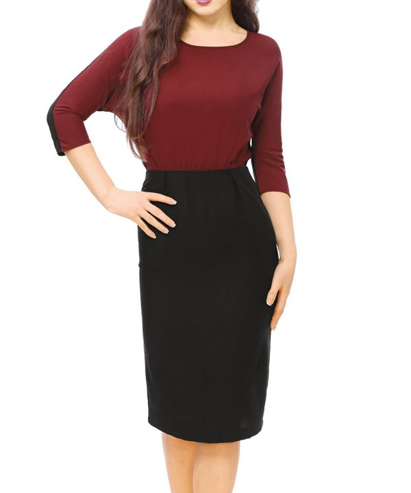 Allegra Ladies Dolman Dress Contrast